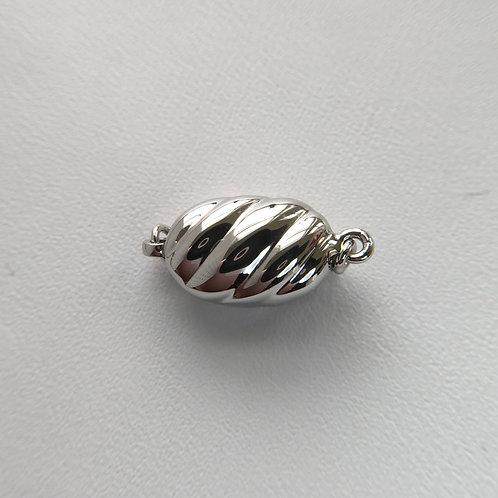18KGP / Rhodium Silver clasp