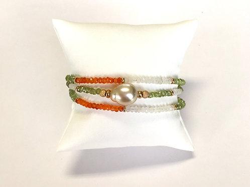 Champagne color South Sea Pearl bracelet