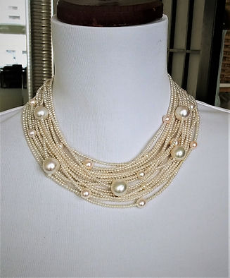 18 strand necklace - Front