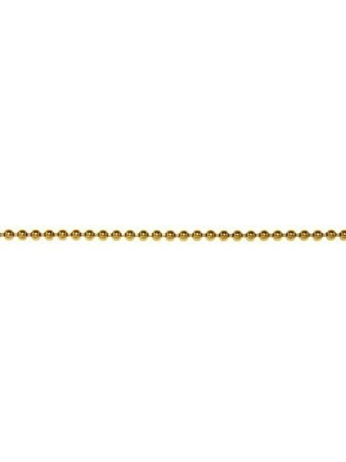 14K Yellow / White / Rose bead Chain