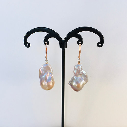 Bronze Baroque Pearl earrings