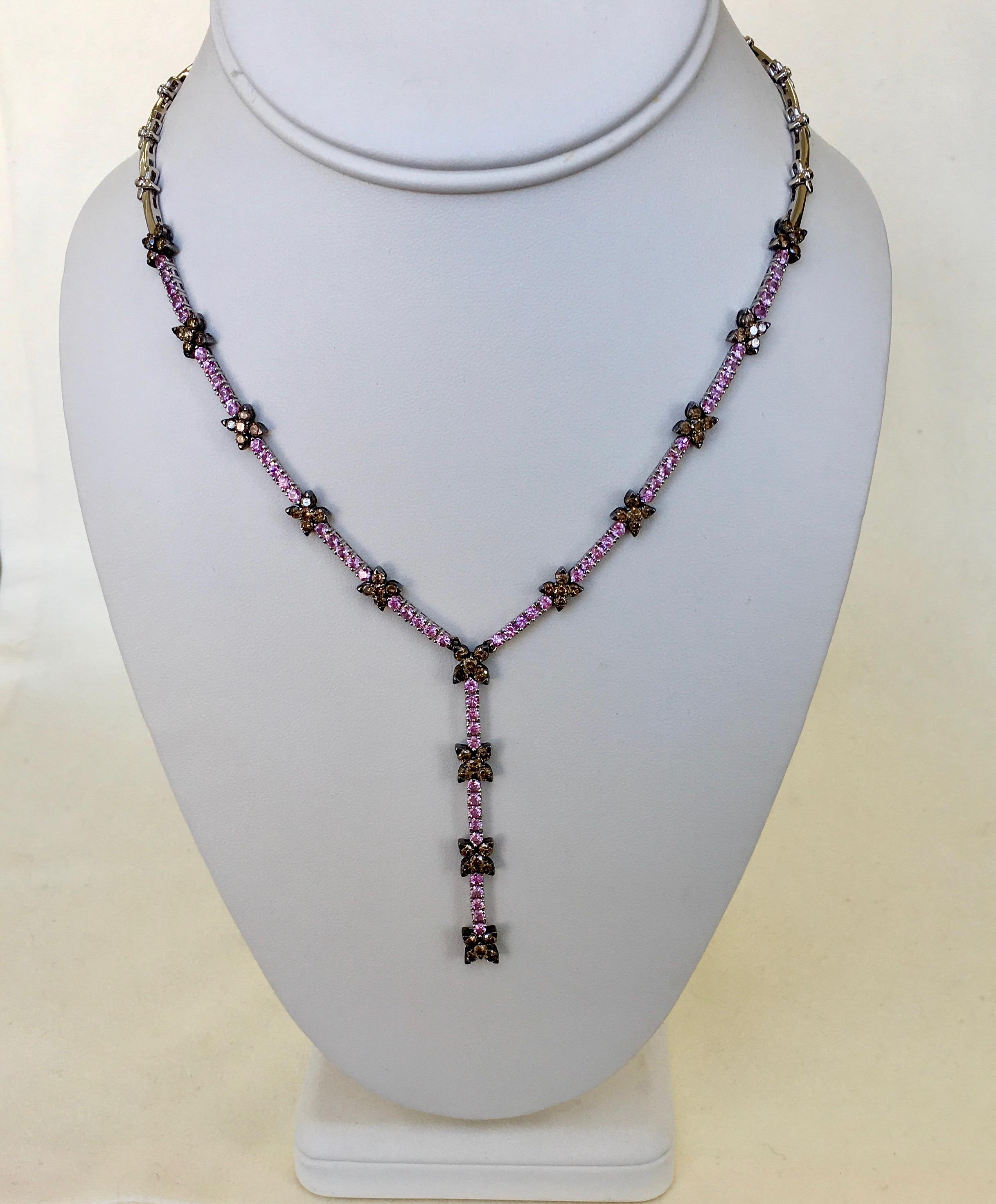 Brown Diamond & Pink Sapphire