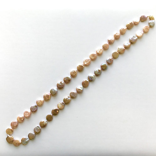 Pink Coin Pearl necklace