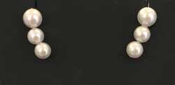 Japanese Akoya 3 stack stud earrings