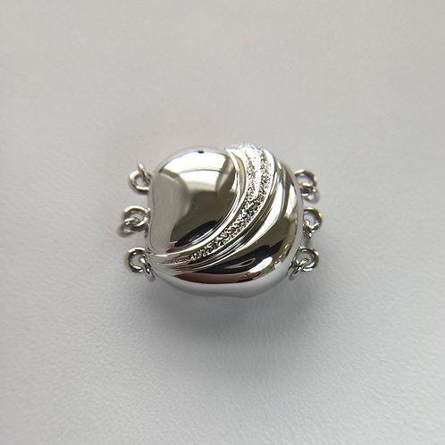 18KGP / Rhodium Silver clasp - Multi strands