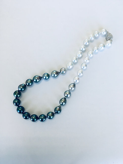 OCEAN DROP - South Sea & Tahitian Pearl necklace