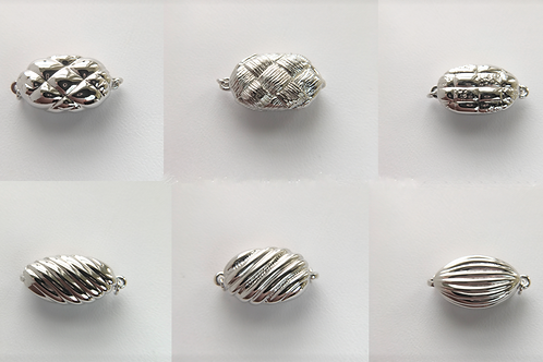 Various Rhodium Silver clasps