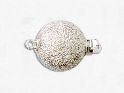 14K White / Yellow Gold sand blast ball clasp