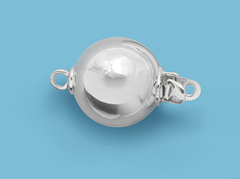 14K Yellow / White Gold ball clasp, high polished