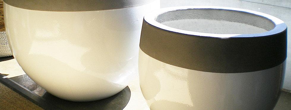 2 Vasos Pedra e Branco
