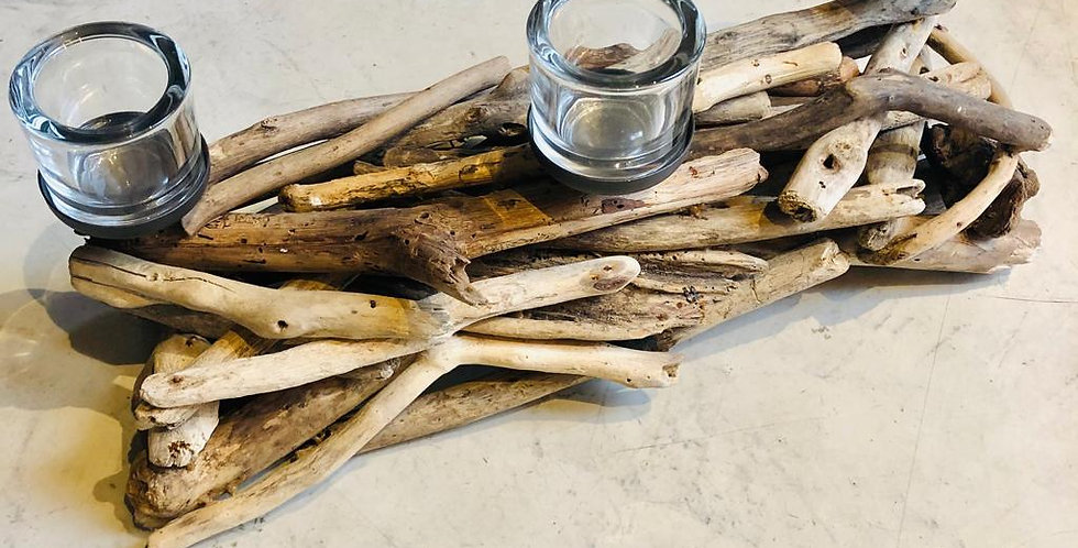 Castiçal tronco 3 velas