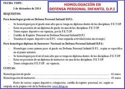 homologación en defensa personal inf