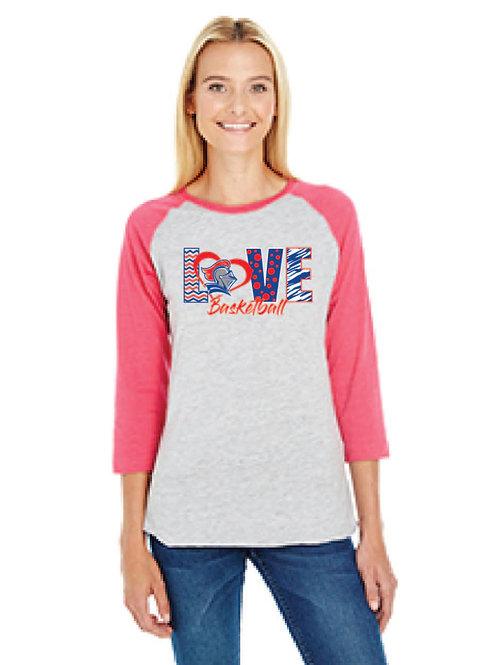 Bella baseball 3/4 sleeve t-shirt