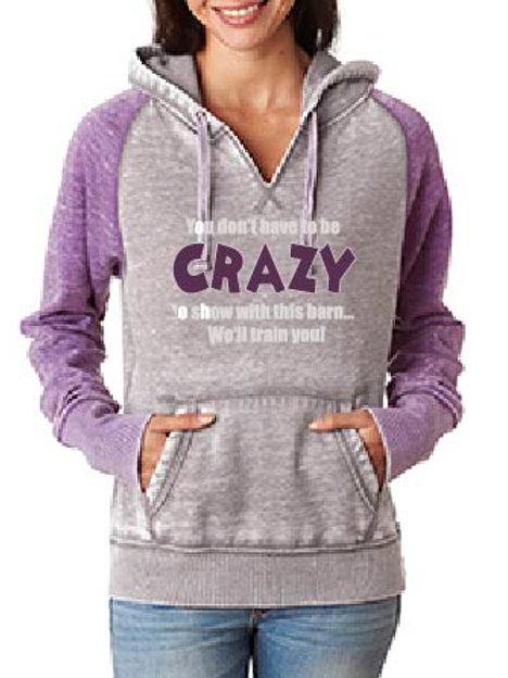 J America Ladies' Zen Contrast Pullover Hood