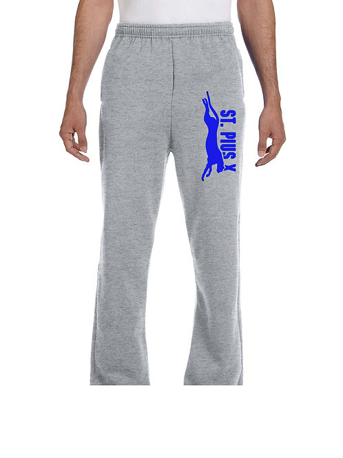 D7 974MP Open Bottom Sweatpants (Unisex)
