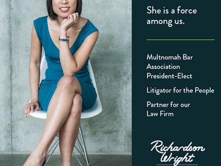 Jovita Wang to be the 116th President of the Multnomah Bar Association