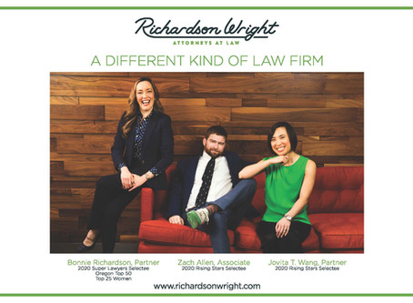 Richardson Wright attorneys recognized in 2020 Oregon Super Lawyers® and Rising Stars List