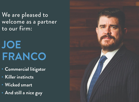 Trial attorney Joe Franco joins Richardson Wright