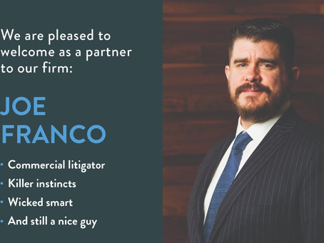 Trial attorney Joe Franco joins Richardson Wright