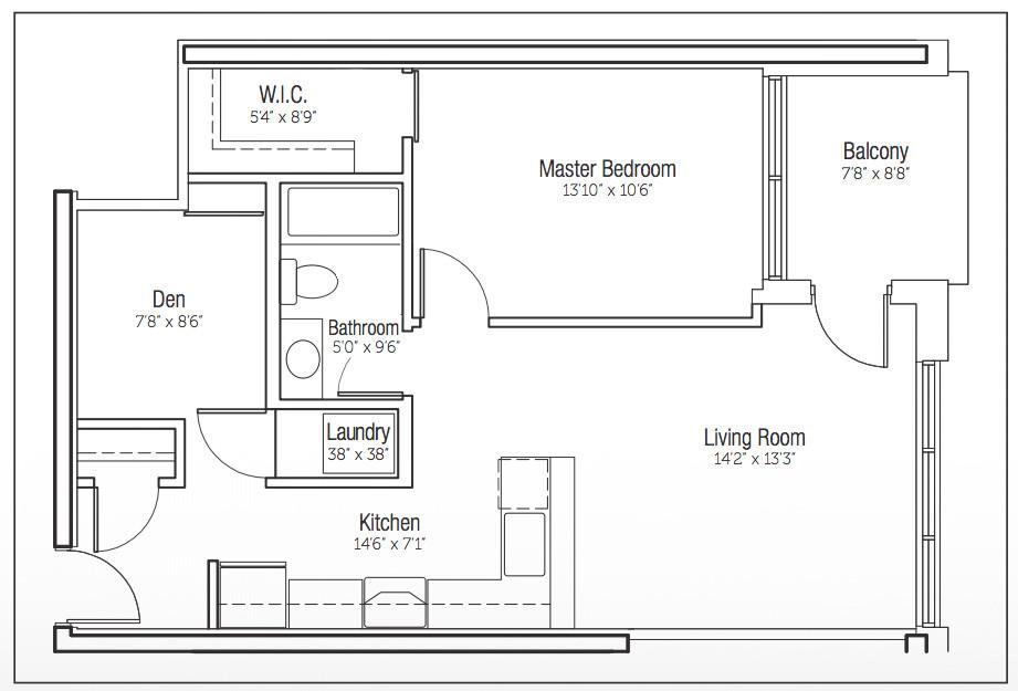316-188 King - Floor Plan