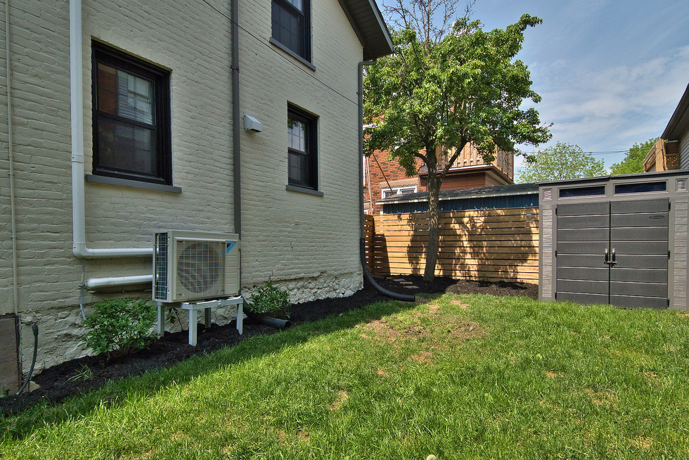 Side Yard - 132 Queen St N - For Sale