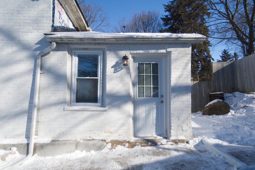 114 Queen St W - Exterior Back Door