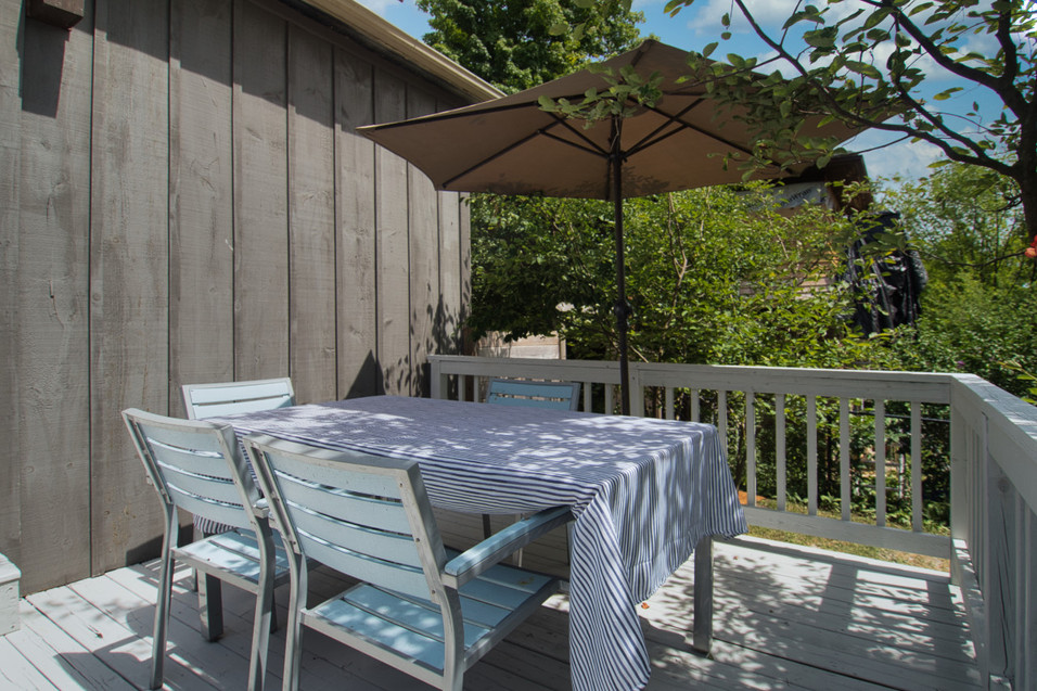 Dining Area on Deck - 11 Park Street - For Sale