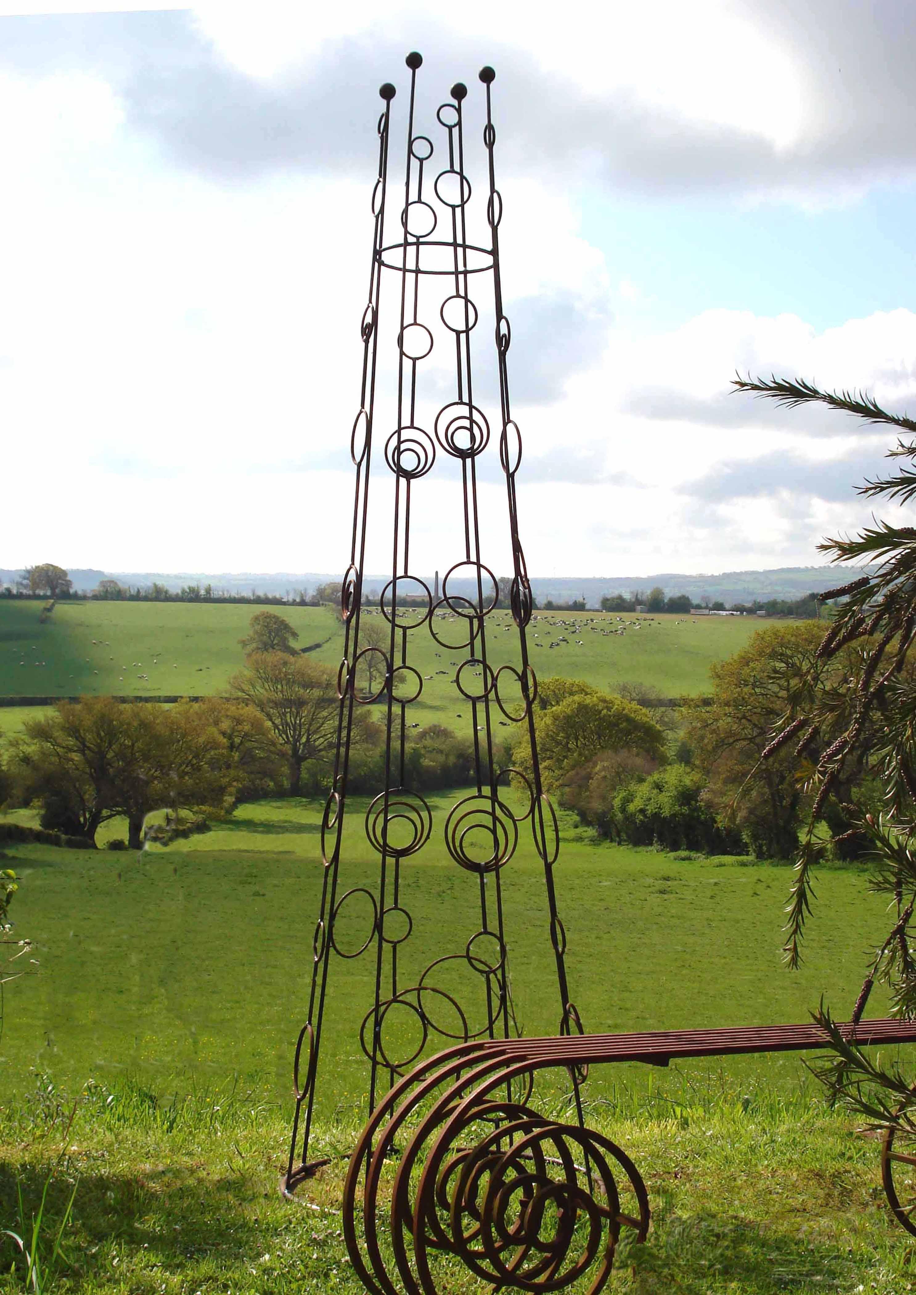 Obelisk Sweet Pea Tower