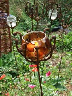 Seed head candle-holders