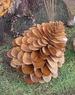 Rusty Steel Pine Cone (small)