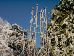 Obelisk, Frosty Sweet Pea Tower