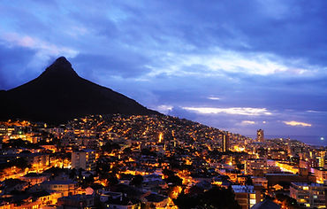 Cape Town city with Lion Head background