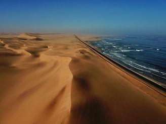 Dunes at Swakopmund in Namibia, captured