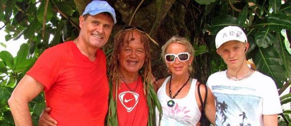 Scott, Pa, Kim & Grant in Rarotonga
