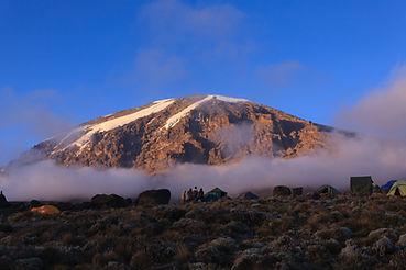 Glacier view of Mount Kilimanjaro taken
