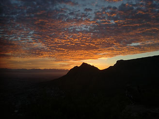 Sunrise over Table Mountain viewed from
