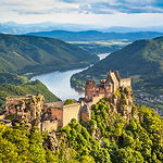 Beautiful landscape with Aggstein castle