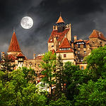 Dracula count house, medieval building o