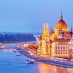 Budapest, Hungary. Night view on Parliam