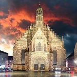 Nuremberg, cathedral Frauenkirche in Hau