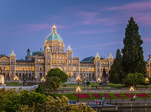 View of Parliament Building in Victoria,