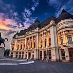 Bucharest at Sunset. Calea Victoriei, Na