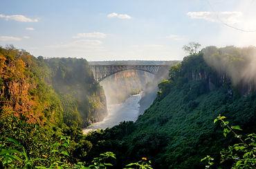 Victoria Falls, located on the Zambezi R