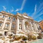 view of The Famous Trevi Fountain, rome,