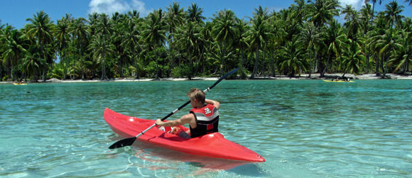 Kayaking in Taha'a Motu Mahana