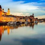 Passau from the Danube, Germany.jpg View