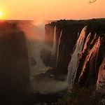 Victoria Falls,, Eastern Cataract at Sun