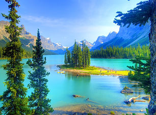 Spirit Island at Maligne Lake, Jasper, R