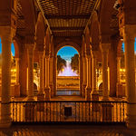Beautiful Gallery with columns on Spain