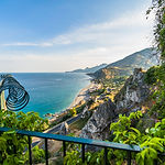 Amazing sunny mediterranean coast viewed